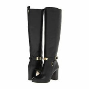 Michael Kors Tall Black Leather Boots
